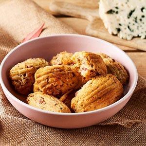 Recette madeleines Roquefort Margret poires