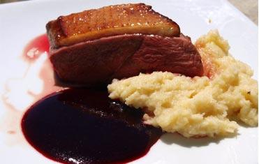 Recette magret canard sauce au vin et écrasé de pomme de terre